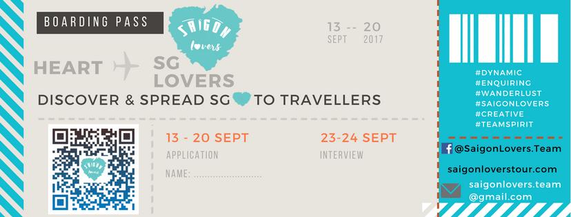 [HCM] Saigon Lovers Tuyển Dụng Local Tour Guide 2017 (Hạn cuối: 20/09)